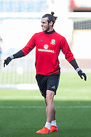 Gareth Bale during a Wales Training Session at Cardiff City Stadium ahead of the FIFA World Cup Qualification match against Serbia, Cardiff, Wales on 11 November 2016. Photo by Mark  Hawkins.