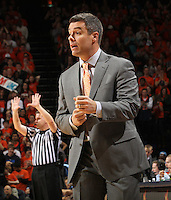 Virginia Cavaliers head coach Tony Bennett reacts to a call during the game against North Carolina in Charlottesville, Va. North Carolina defeated Virginia 54-51.