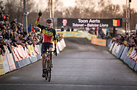 Belgian National Champion Toon Aerts (BEL/Telenet Baloise Lions) wins  the CX Superprestige Zonhoven (BEL) 2019<br /> Elite & U23 mens race