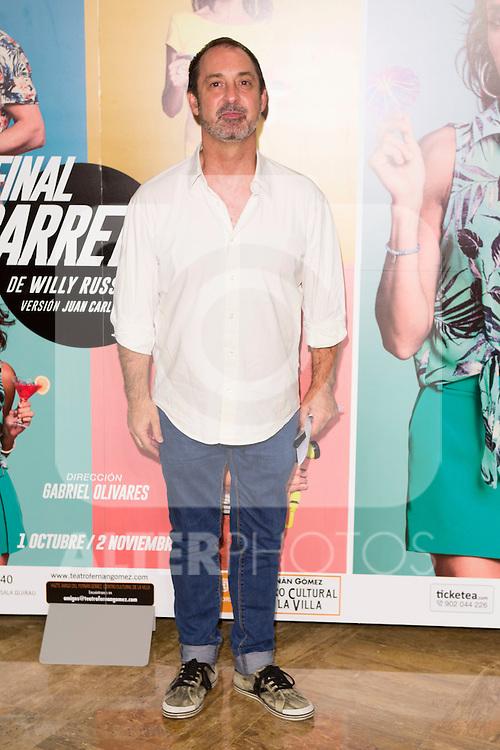 "Jorge Roelas attends the Premiere of the Theater Play ""Al Final de la carretera"" at Fenan Gomez Theatre in Madrid, Spain. October 7, 2014. (ALTERPHOTOS/Carlos Dafonte)"