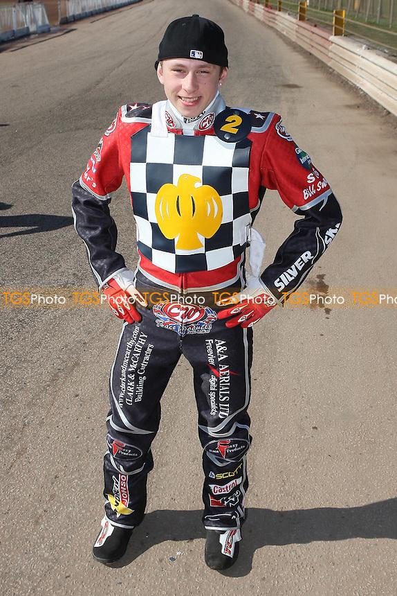 Ben Morley of Hackney Hawks - Hackney Hawks Speedway Press & Practice Day at Arena Essex Raceway, Purfleet, Essex - 23/03/11 - MANDATORY CREDIT: Gavin Ellis/TGSPHOTO - Self billing applies where appropriate - Tel: 0845 094 6026