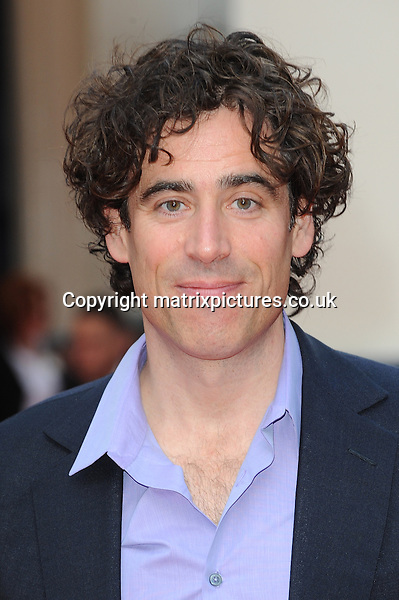 NON EXCLUSIVE PICTURE: PAUL TREADWAY / MATRIXPICTURES.CO.UK<br /> PLEASE CREDIT ALL USES<br /> <br /> WORLD RIGHTS<br /> <br /> English actor Stephen Mangan attending the &quot;Charlie And The Chocolate Factory&quot; opening night, at London's Theatre Royal.<br /> <br /> JUNE 25th 2013<br /> <br /> REF: PTY 134361