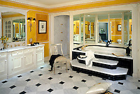 Residential, Master Bathroom, Mirrored Tub, Grey, Black, Marble Floor, Design, lifestyle, room, interior, trendy, residence, home, house, .jpg