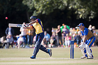 Ravi Bopara goes big through wide mid wicket during Upminster CC vs Essex CCC, Benefit Match Cricket at Upminster Park on 8th September 2019