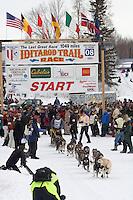 Joe Garnie Willow restart Iditarod 2008.
