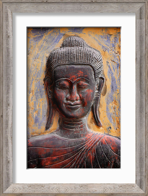 Antique Buddha Carving Cambodia