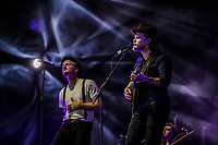 The Lumineers performs at the Festival d'ete de Quebec in Quebec city Friday July 8, 2016.