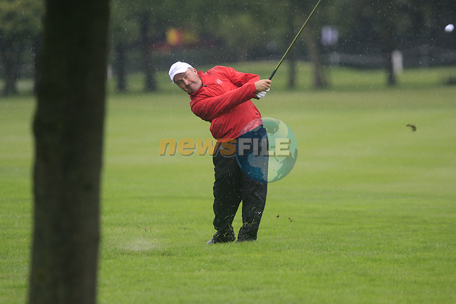 Damien McGrane (IRL) plays his 2nd shot from the rough on the 1st hole during Day 1 of the BMW International Open at Golf Club Munchen Eichenried, Germany, 23rd June 2011 (Photo Eoin Clarke/www.golffile.ie)