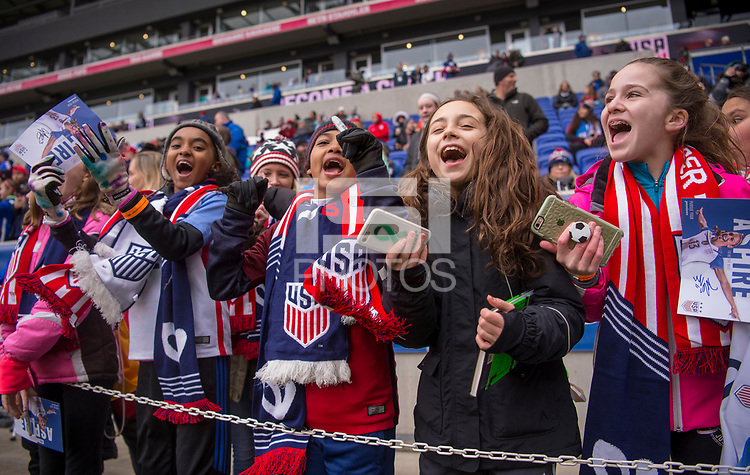 Harrison, NJ - March 4, 2018: The USWNT tied France 1-1 at the second match of the SheBelieves Cup at RedBull Arena.