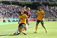 West Ham United's Marko Arnautovic and Wolverhampton Wanderers' Jonny<br /> <br /> Photographer Rob Newell/CameraSport<br /> <br /> The Premier League - West Ham United v Wolverhampton Wanderers - Saturday 1st September 2018 - London Stadium - London<br /> <br /> World Copyright © 2019 CameraSport. All rights reserved. 43 Linden Ave. Countesthorpe. Leicester. England. LE8 5PG - Tel: +44 (0) 116 277 4147 - admin@camerasport.com - www.camerasport.com