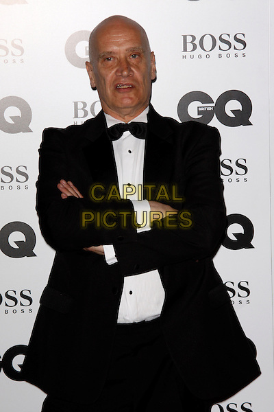 Wilko Johnson<br /> GQ Men of the Year Awards 2013 at the Royal Opera House, London, England.<br /> September 3rd, 2013<br /> half length arms crossed folded black white bow tie tuxedo shirt   <br /> CAP/AH<br /> &copy;Adam Houghton/Capital Pictures