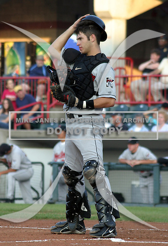 August 13, 2003:  Joe Mauer of the New Britain Rock Cats, Class-AA affiliate of the Minnesota Twins, during a Eastern League game at Jerry Uht Park in Erie, PA.  Photo by:  Mike Janes/Four Seam Images