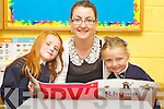 Pictured on their first day of school at Caherlaheen  national school, Tralee on Friday Front from left: Roisin Sugrue and Aoife Ross with Teacher Eveleen McCarthy.
