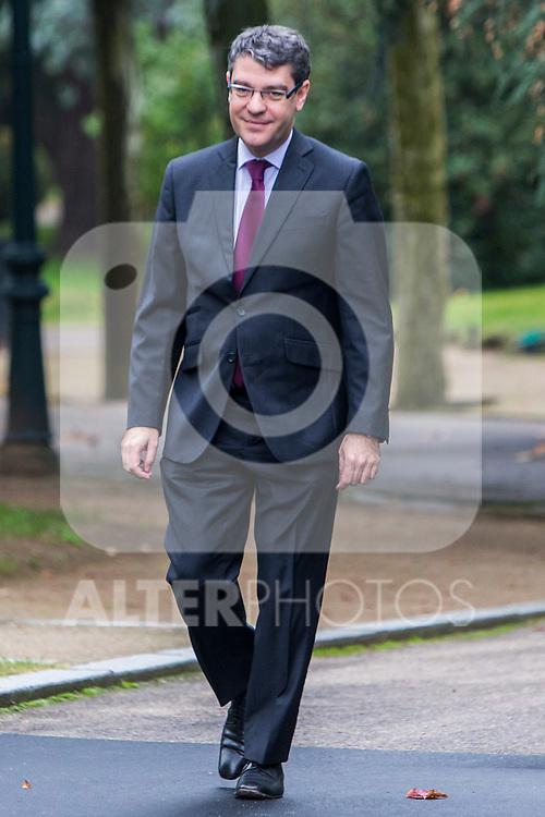 Spanish Minister of Energy, Tourism and Digital Agenda Alvaro Nadal during the prensentation of Rajoy's New Government at Moncloa Palace in  Madrid, Spain. November 04, 2016. (ALTERPHOTOS/Rodrigo Jimenez)