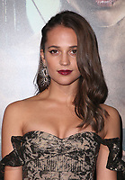 HOLLYWOOD, CA - MARCH 12: Alicia Vikander at The US premiere of Tomb Raider at the TCL Chinese Theatre in Hollywood, California on March 12, 2018. <br /> CAP/MPIFS<br /> &copy;MPIFS/Capital Pictures