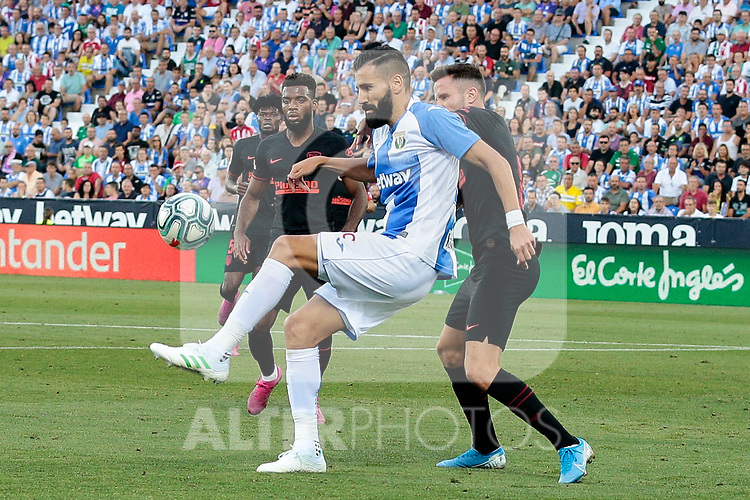 CD Leganes's Dimitrios Siovas during La Liga match between CD Leganes and Atletico de Madrid at Butarque Stadium in Madrid, Spain. August 25, 2019. (ALTERPHOTOS/A. Perez Meca)