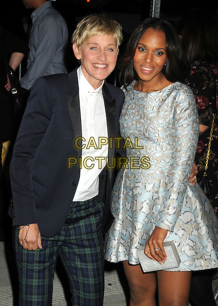 20 September 2014 - West Hollywood, California - Ellen DeGeneres, Kerry Washington. ABC's &quot;Thank Good It's Thursday!&quot; Premiere Event for &quot;Grey's Anatomy&quot;, &quot;Scandal&quot;, &quot;How To Get Away With Murder&quot; held at Palihouse.  <br /> CAP/ADM/BP<br /> &copy;Byron Purvis/AdMedia/Capital Pictures