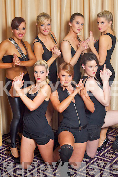 Miss Kerry Contestants Front Genevieve Keane, Claire O'Brien and Petriona Lyons. Back: Lindsey Kelly, Lorraine Gurnett, Karen Harrington, Slaine Hutchenson, pictured at Miss Kerry Irish news of the world 2011 at the Carlton Hotel Tralee on Friday evening.