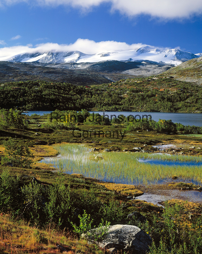 Norwegen, Oppland, See Breiddalsvatnet und Gletscher Sandabreen, Teil des Gletschers Jostedalsbreen   Norway, Oppland, Lake Breiddalsvatnet and glacier Sandabreen, part of glacier Jostedalsbreen
