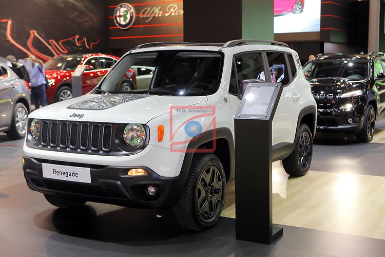 Automobile Barcelona 2017.<br /> Stand Jeep.