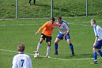 "VOETBAL: BALK: Voetbalcomplex ""de Wilgen"", 27-04-2013, KNVB 1ste Klasse E district Noord, VV Balk -VV Drachtster Boys, Einduitslag 1-2, Aziz Geyik (#18 | DB), ©foto Martin de Jong"