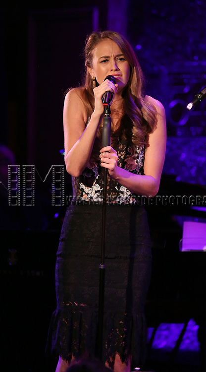 "Maddie Shea Baldwin on stage during a Song preview performance of the BeBe Winans Broadway Bound Musical ""Born For This"" at Feinstein's 54 Below on November 5, 2018 in New York City."