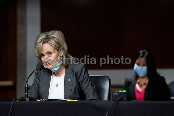 United States Senator Cindy Hyde-Smith (Republican of Mississippi) speaks during the U.S. Senate Committee on the Judiciary hearing on Capitol Hill in Washington D.C., U.S.,  as they consider the nomination of Cory Wilson to be United States Circuit Judge For The Fifth Circuit on Wednesday, May 20, 2020.  Credit: Stefani Reynolds / CNP/AdMedia