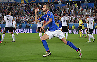 FUSSBALL EURO 2016 VIERTELFINALE IN BORDEAUX Deutschland - Italien      02.07.2016 Leonardo Bonucci (Italien) bejubelt seinen Treffer zum 1:1