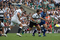 Twickenham, England, 27th May 2018. Quilter Cup, Rugby, England vs BarbarianBaa Baa's, Rhodri WILLIAMS [C],  Jack SINGLETON [R]  Moves away from the scrum, withe  ball    RFU.Stadium, Twickenham. UK.  <br /> <br /> &copy; Peter Spurrier/Alamy Live News