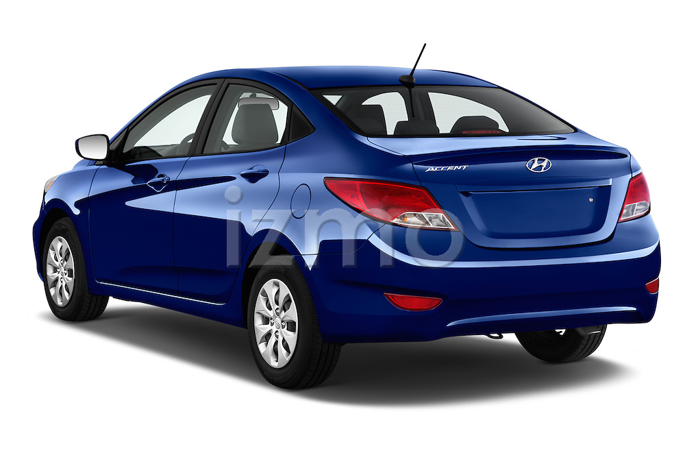 Car pictures of rear three quarter view of 2016 Hyundai Accent SE 4-Door 6-Speed Automatic 4 Door Sedan Angular Rear
