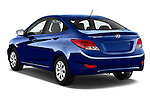 Car pictures of rear three quarter view of 2016 Hyundai Accent SE 4-Door 6-Speed Automatic 4 Door Sedan Angular Rear