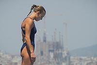 Tania Cagnotto ITA silver medal<br /> Women's 1m springboard final<br /> 15th FINA World Aquatics Championships<br /> Barcelona 19 July - 4 August 2013<br /> Piscina Comunal de Montjuic, Barcelona (Spain) 23/07/2013 <br /> © Giorgio Perottino / Deepbluemedia.eu / Insidefoto