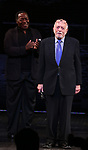 Chuck Cooper and Hal Prince during the Broadway Opening Night performance Curtain Call for 'The Prince of Broadway' at the Samuel J. Friedman Theatre on August 24, 2017 in New York City.