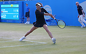 June 15th 2017, Nottingham, England;WTA Aegon Nottingham Open Tennis Tournament day 6;  Su-Wei Hsieh of Taipei in action in the second round against Lucie Safarova of Czech Republic