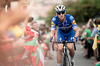 Zdenek Stybar (CZE/Deceuninck - QuickStep) up the brutal (last climb) Alto de Arraiz (up to 25% gradients!), 7km from the finish <br /> <br /> Stage 12: Circuito de Navarra to Bilbao (171km)<br /> La Vuelta 2019<br /> <br /> ©kramon
