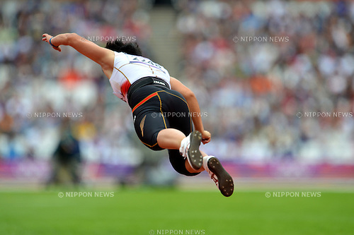 Yuki Ebihara (JPN),.AUGUST 7, 2012 - Athletics : Women's Javelin Throw Qualification .at Olympic Park - Olympic Stadium during the London 2012 Olympic Games in London, UK. .(Photo by Jun Tsukida/AFLO SPORT) [0003]
