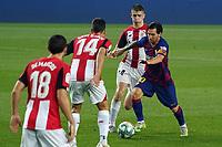 23rd June 2020, Camp Nou, Barcelona, Spain; La Liga Football league, FC Barcelona versus Athletico Bilbao;  Leo Messi takes on Dani Garcia of Bilbao