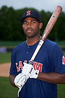 Salem Red Sox first baseman Josh Ockimey (30) poses for a photo before the first game of a doubleheader against the Potomac Nationals on May 13, 2017 at G. Richard Pfitzner Stadium in Woodbridge, Virginia.  Potomac defeated Salem 6-0.  (Mike Janes/Four Seam Images)