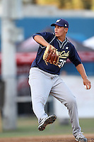 Brady Aiken participates in the Area Code Games at Blair Field on August 9, 2012 in Long Beach, California. (Larry Goren/Four Seam Images)