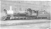 K-27 #460 in Salida yard.<br /> D&amp;RGW  Salida, CO  7/21/1938