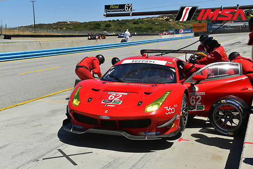 29 April - 1 May, 2016, Monterey, California USA<br /> 62, Ferrari, F488 GTE, GTLM, Giancarlo Fisichella, Toni Vilander<br /> &copy;2016, Richard Dole<br /> LAT Photo USA