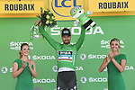 Peter Sagan (SVK) Bora-Hansgrohe retains the Green Jersey at the end of Stage 9 of the 2018 Tour de France running 156.5km from Arras Citadelle to Roubaix, France. 15th July 2018. <br /> Picture: ASO/Pauline Ballet | Cyclefile<br /> All photos usage must carry mandatory copyright credit (&copy; Cyclefile | ASO/Pauline Ballet)