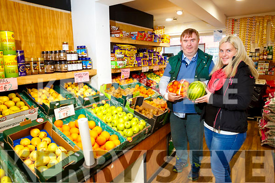 Dan Horan and Ashleigh Fleming  of Horan's Fruit and Veg