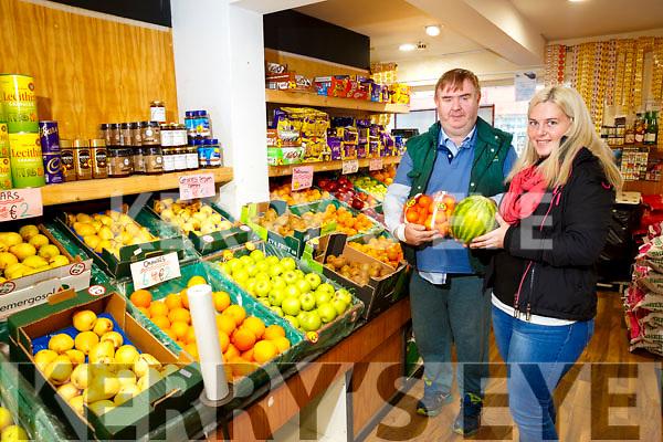 Dan Horan and Ashleigh Fleming  of Horan's Fruit and Veg