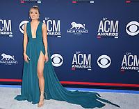 LAS VEGAS, NV - APRIL 7: Danielle Bradbery attends the 54th Annual ACM Awards at the Grand Garden Arena on April 7, 2019 in Las Vegas, Nevada. <br /> CAP/MPIIS<br /> &copy;MPIIS/Capital Pictures
