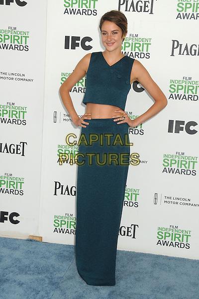 1 March 2014 - Santa Monica, California - Shailene Woodley. 2014 Film Independent Spirit Awards - Arrivals held at Santa Monica Beach. <br /> CAP/ADM/BP<br /> &copy;Byron Purvis/AdMedia/Capital Pictures
