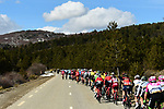 The peleton in action during Stage 5 running 165km from Salon-de-Provence to Sisteron, France. 8th March 2018.<br /> Picture: ASO/Alex Broadway | Cyclefile<br /> <br /> <br /> All photos usage must carry mandatory copyright credit (&copy; Cyclefile | ASO/Alex Broadway)
