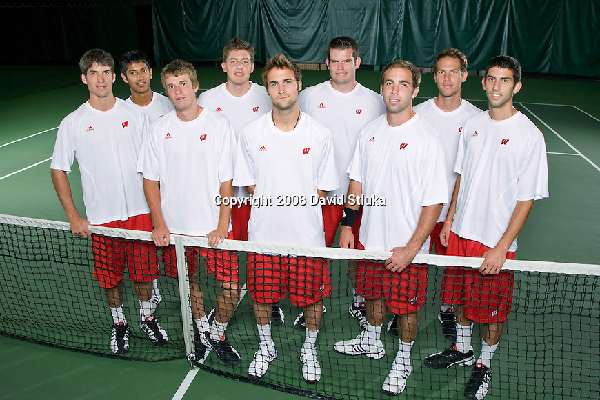 MADISON, WI - SEPT 16: The 2008-09 Wisconsin Badgers men's tennis team on September 16, 2008, in Madison, Wisconsin. (Photo by David Stluka)