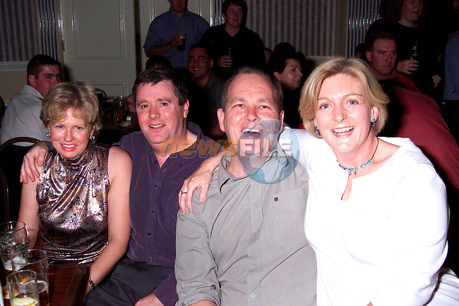 Aidan and Ann Hodgers with Kieran and Eugenia Whelan at the Picturehouse gig in the Europa Hotel..Picture: Paul Mohan/Newsfile