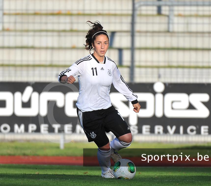 20131013 - BAMBERG , GERMANY : German Burcu Ozkanca pictured during the  female soccer match between